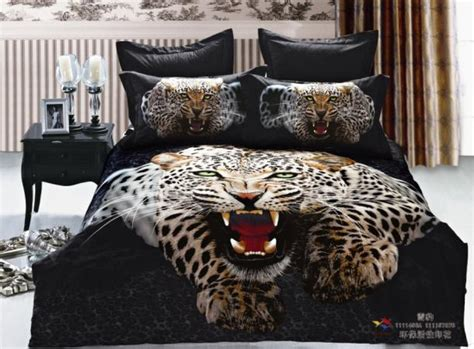 black cheetah comforter 3d black leopard print bedding set queen king size duvet