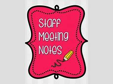 Staff Meeting Notes by Justine Martinez | Teachers Pay ... Free Clipart For Teachers Pay Teachers