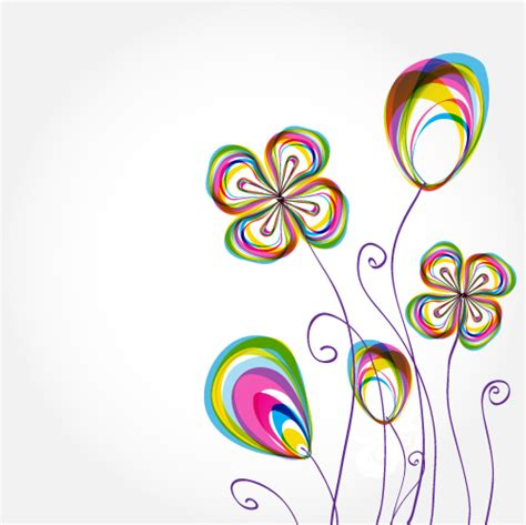 colorful flowers background pattern 02 vector free vector