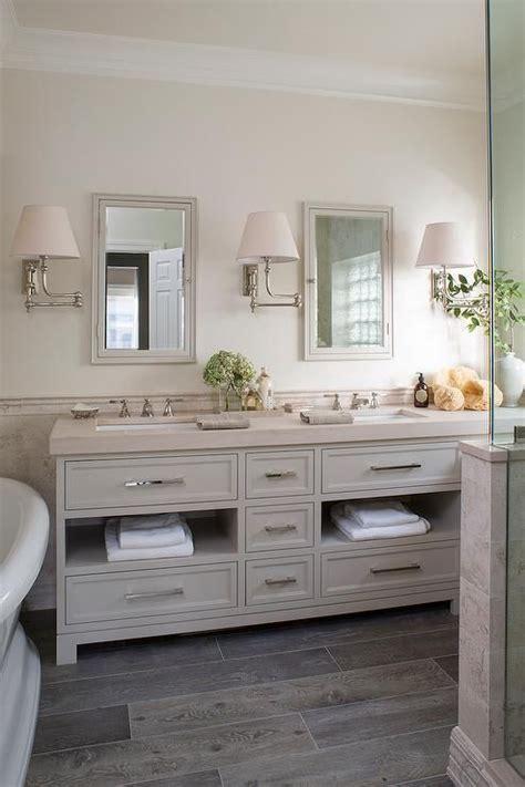 cream  gray bathroom features top   walls painted