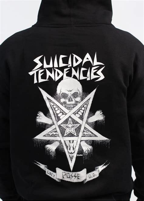 Hoodie Suicidal Tendencies Abu 1 obey x suicidal tendencies possessed zip hoody black