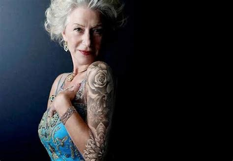 helen mirren tattoo helen mirren says she wants a sleeve proves she s