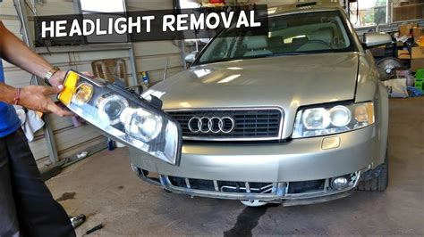 Audi A4 Headlight by Audi A4 B6 Headlight Removal Replacement