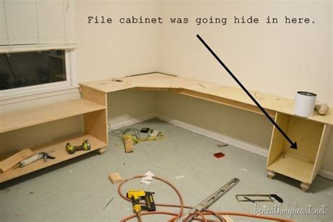 Diy File Cabinet For My Office Beneath My Heart How To Make Office Desk