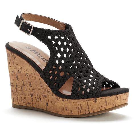 mudd s peep toe platform wedge from kohl s