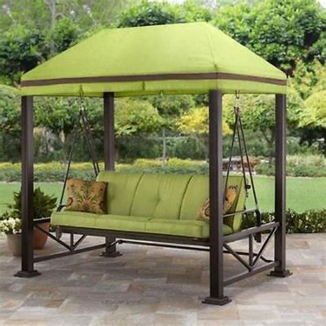 patio swing canopy swing gazebo outdoor covered patio deck porch garden