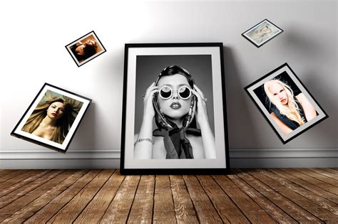 50 beautiful stylish free psd frame poster mockups for