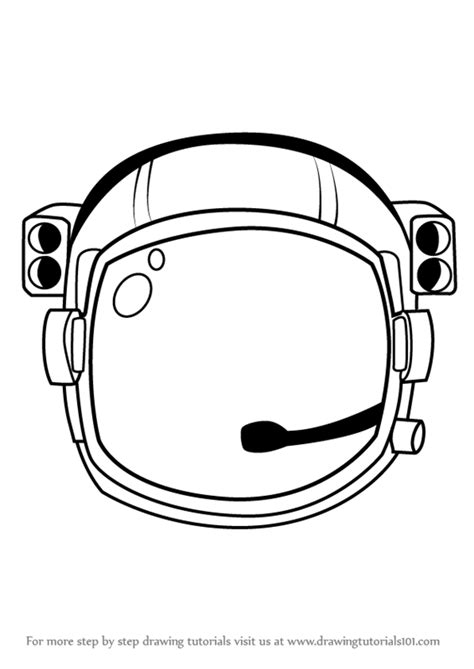 astronaut hat coloring page learn how to draw an astronaut s helmet tools step by