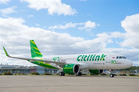 citilink a320 neo citilink takes delivery of 50th a320 family aircraft