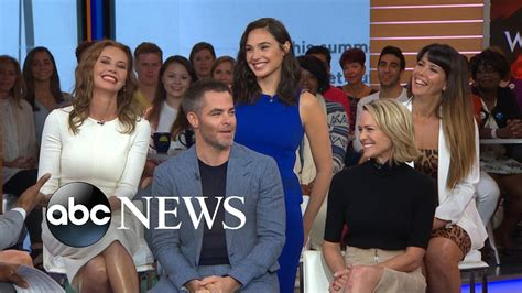 boy actor movie wonder the cast of wonder woman takes over gma youtube