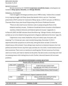 How To Get A Service Dog For Ptsd Veterans by Letter To Va On Disability Rating For Sinusitis