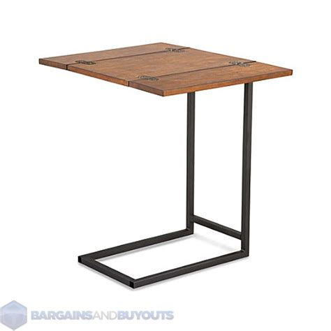 expanding tray table has a flip open top to give you lots