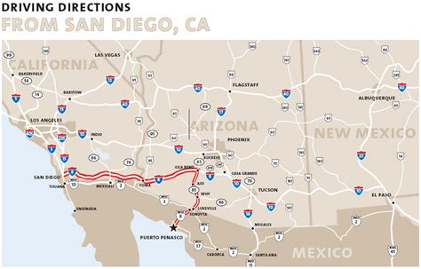 road map of arizona and california maps and directions southern california map