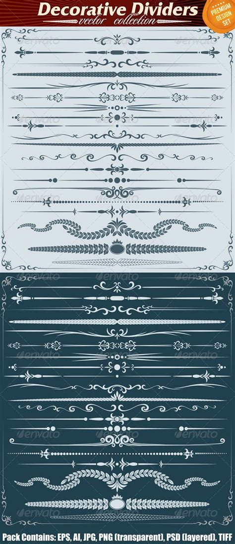 book layout rules ornate decoration dividers and rule lines floral flowers
