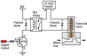 transistor_relay_solenoid_valve_flyback water heater wiring diagram 14 on water heater wiring diagram