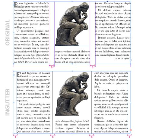 changing margins columns and gutter widths in an indesign indiscripts ingutter inset spacing gutter and global