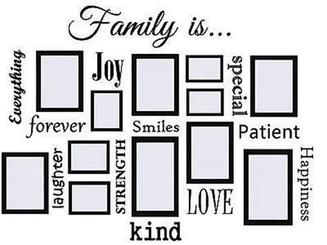 frames with vinyl family sayings best 25 family wall quotes ideas on living