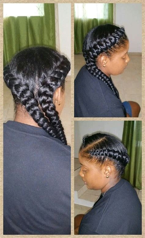 2 jumbo braids hairstyles jumbo cornrow braids weaves pinterest halo braids