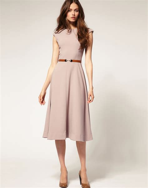 Midi Dress asos asos midi dress with contrast belt at asos