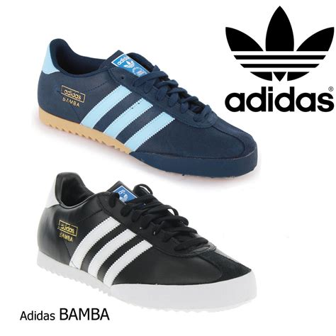adidas originals bamba leather mens casual retro trainers
