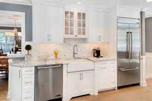 White Kitchen Cabinets With Stainless Appliances timeless grey and white kitchen middletown new jersey by design line