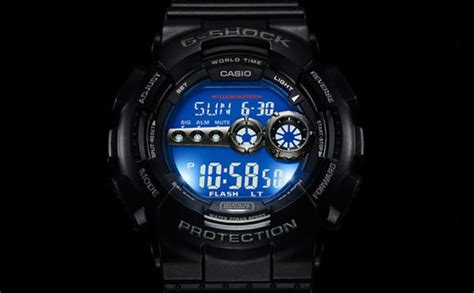 G Shock Gsd 100 Black casio g shock gd100 1b gd 100 1b black resin digital x large mens ebay