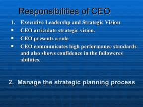 roles and responsibilities of ceo
