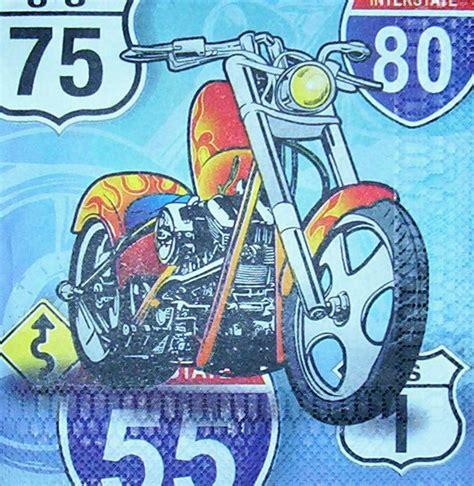 Motorrad Bogen Online by 2354 Motorrad Chopper Bike Serviette Www Susipuppis