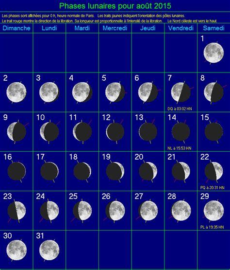 Calendrier Lunaire Aout 2015 Phases Lunaires Calendar Template 2016