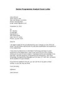 Application Letter Programmer Cover Letter No Name Given