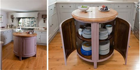 round island kitchen small circular movable kitchen island table