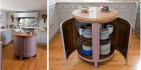 Small, Circular, Movable Kitchen Island/Table