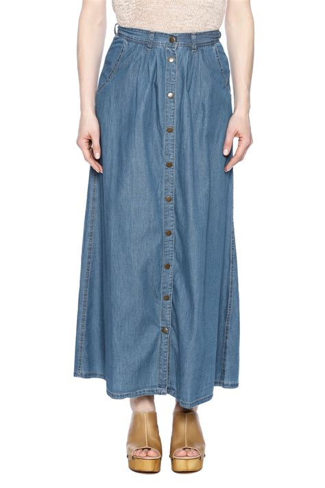 Indiana Style Maxi maxi skirt denim shirt jw signature denim maxi skirt from