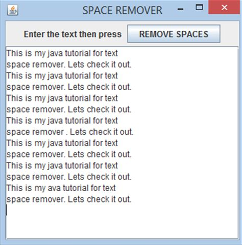 java layout manager tutorial pdf unwanted text space remover free source code tutorials
