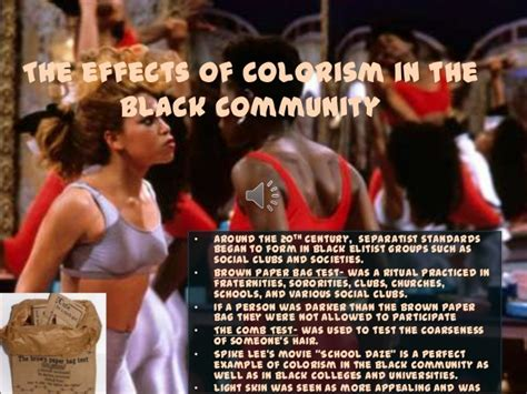 colorism in the black community colorism powerpoint autosaved