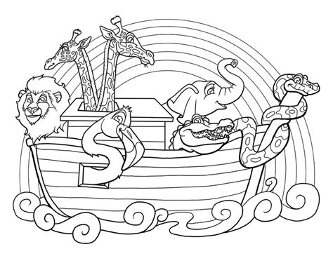noah ark printable coloring pages
