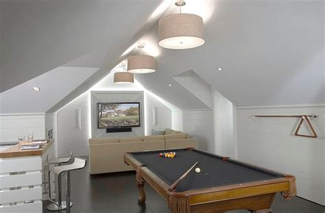attic space design how to transform your attic into a fun game room