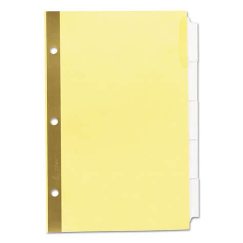 template for avery clear label dividers 5 tab insertable standard tab dividers 5 tab 8 1 2 x 5 1 2