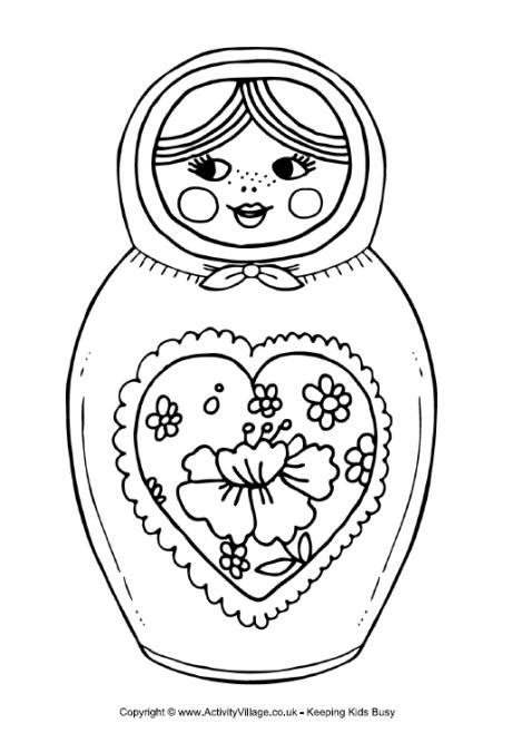 coloring pages matryoshka dolls russian doll coloring page coloring pages