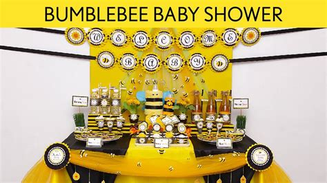 Need Trunk Or Treat Decorating Ideas by Bumblebee Baby Shower Party Ideas Bumblebee S17 Youtube