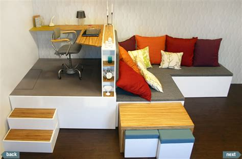 small house furniture ideas estrade pour un bureau avec lit escamotable