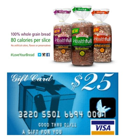 Visa Gift Card Coupons - make the switch to oroweat healthfull bread 25 visa gift card giveaway loveyourbread