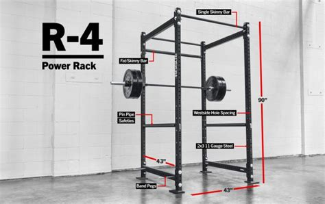 Rogue R4 Power Rack Review by Rogue R 4 Power Rack Weight Crossfit