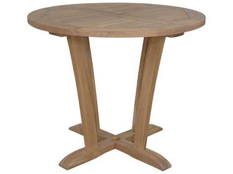 round table anderson anderson teak descanso 35 round bistro table aktb8890