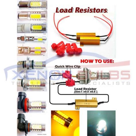 how to install led resistor kit 50w 6ohm led canbus free load resistor kit