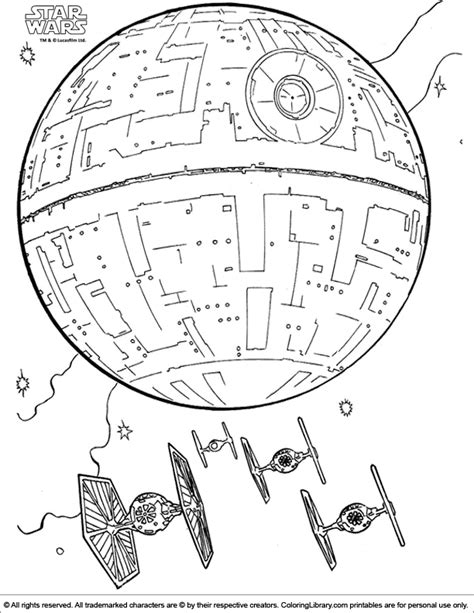 free coloring pages of starwars ship