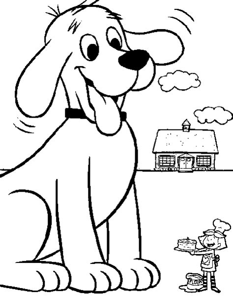 coloring pages of big dogs clifford the big coloring pages