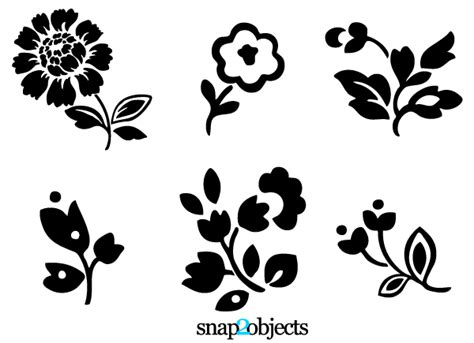 flower tattoo vector free free flower vector art cliparts co
