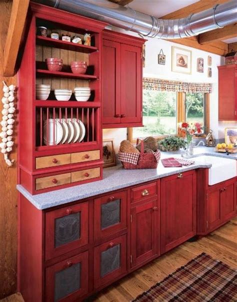 kitchen red 25 best ideas about red cabinets on pinterest red