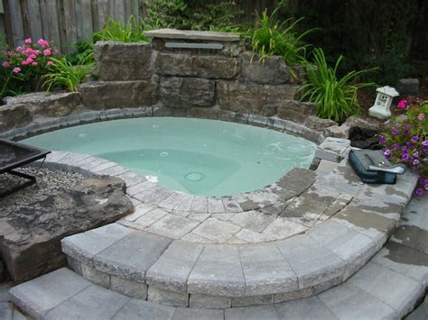 outdoor hot tub 48 awesome garden hot tub designs digsdigs
